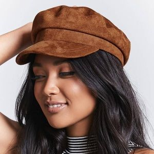 Forever 21 Faux Suede Newsboy Hat